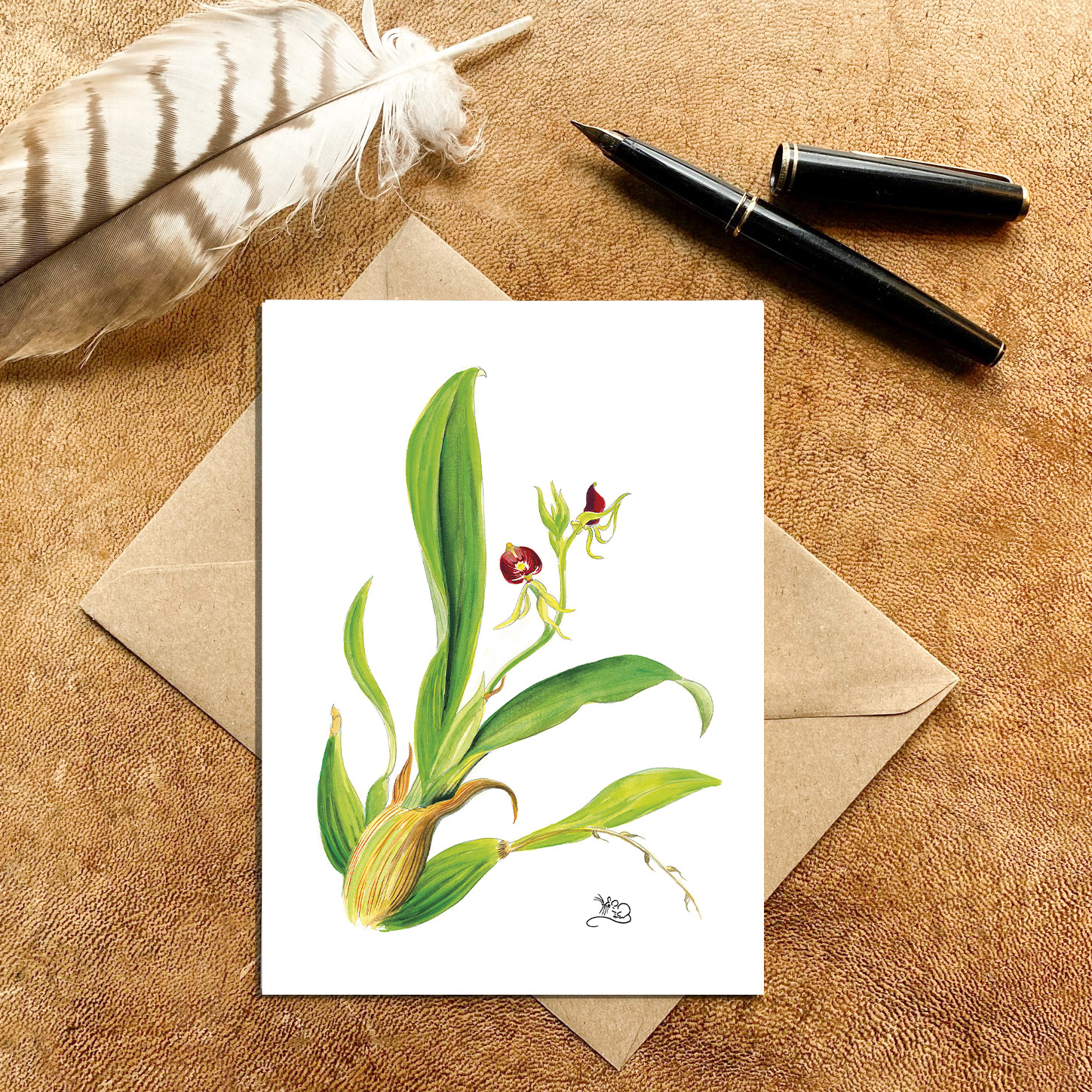 Orchid from Jamaica Card