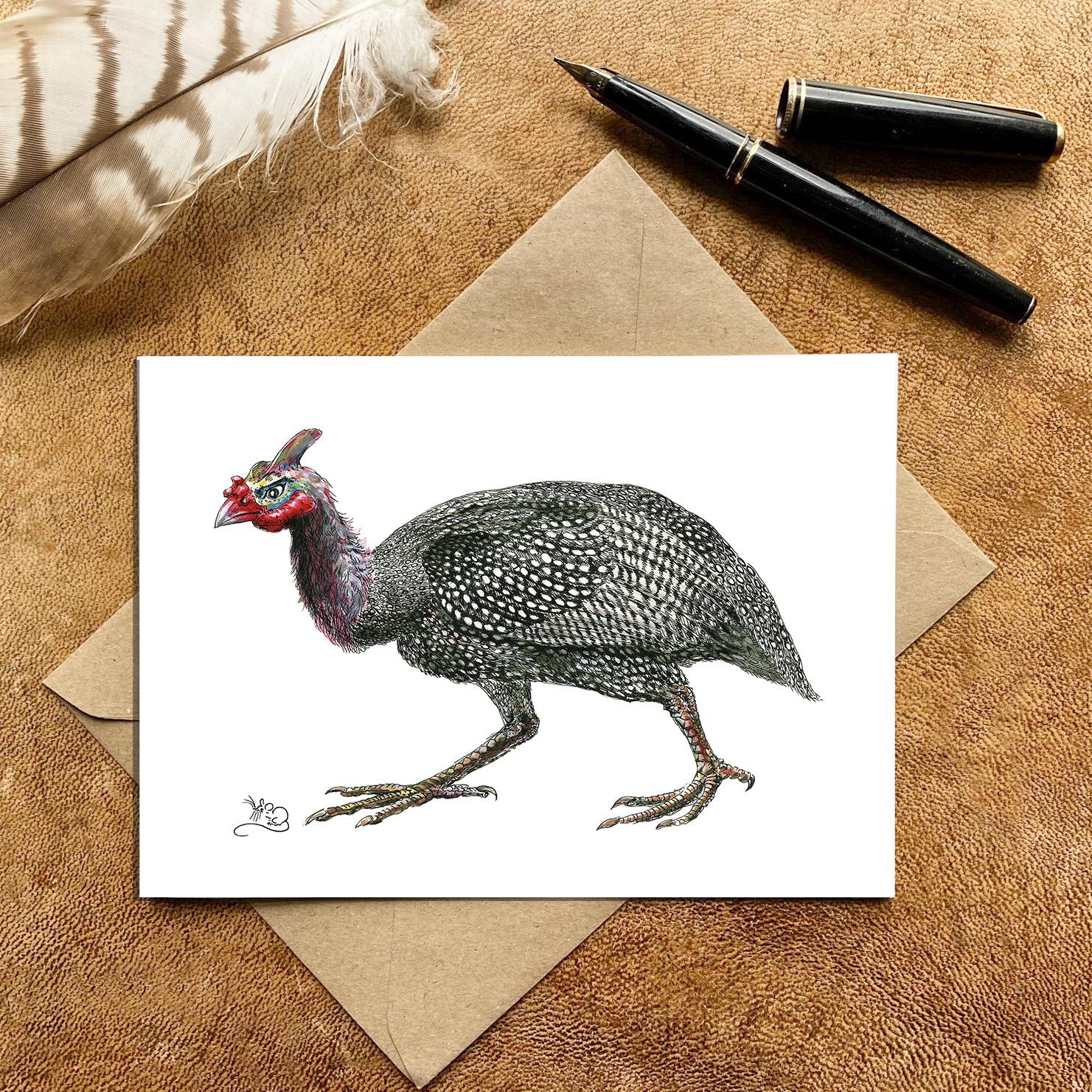 Guinea Fowl Card
